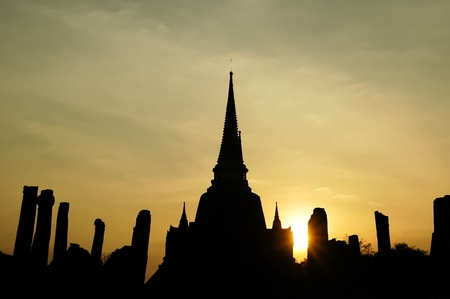old temple of Ayudhaya Thailand