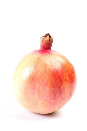 Ripe pomegranate fruit on white background Stock Photo