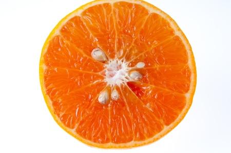 Fresh orange on a white background photo