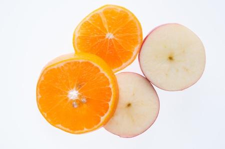 slices of orange on background