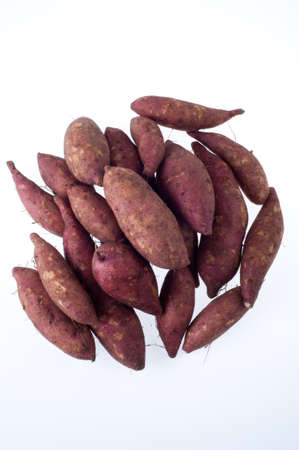 sweet potato on the white background photo