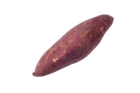sweet potato on the white background