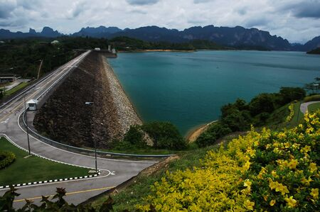Dam in the beautiful province in Thailand Stock Photo - 19993471