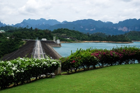 Dam in the beautiful province in Thailand photo