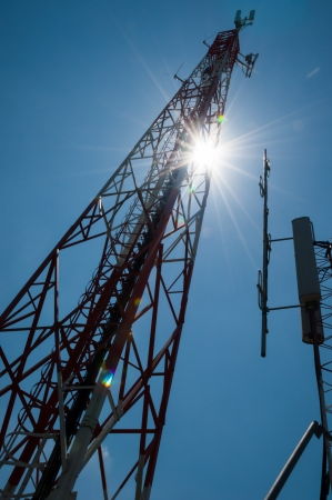 telco: Tower mast cell phones