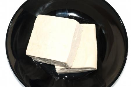 Fresh tofu on a white background