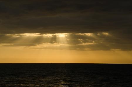 Shining sun sea and beach