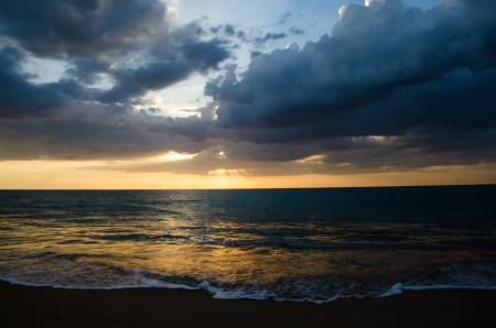 Beaches and sunsets photo