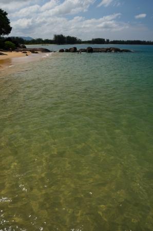 water at beach and tropical sea