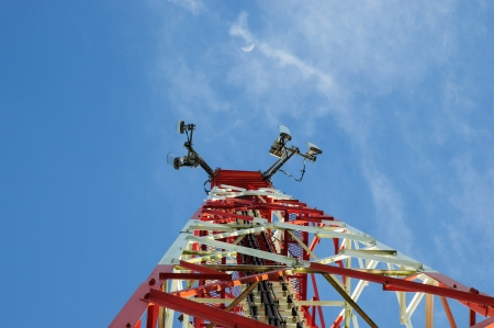 Antenna system  And sky blue