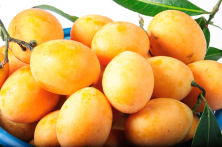 Exotic Thai Fruit  Maprang Isolated on white