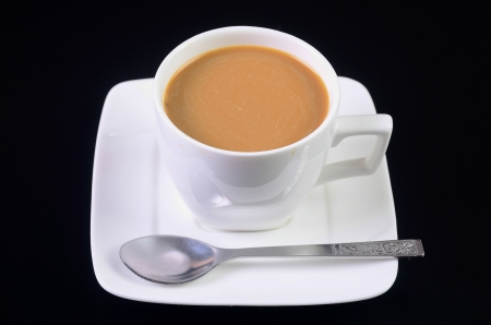Coffee on a black background. photo