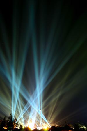 Beam in dark sky