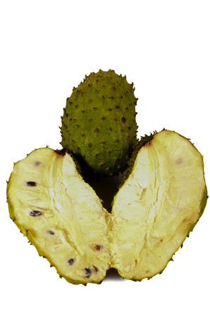 Tropical Fruit, Soursop Isolated On White Background