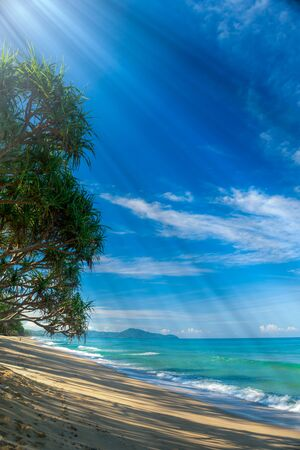 Sun light at beach Thailand Stock Photo