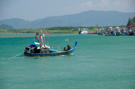 Fishing boats for fishing in the sea