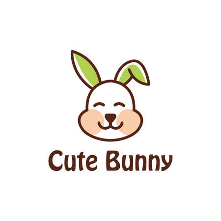 bunny logo design. It's a simple line art vector illustration. so you can use this logo as your identity.