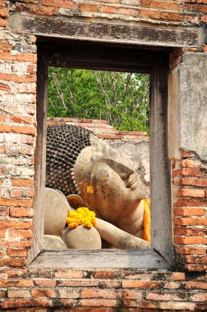 buddha image: Buda reclinado Image Frame