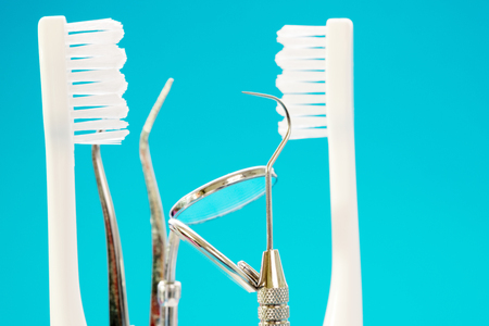 Dentistl tools use for dentist in the office or clinic.