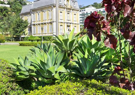 rio de janeiro: secular Mansion garden - historic building - Petropolis - Rio de Janeiro - Brazil