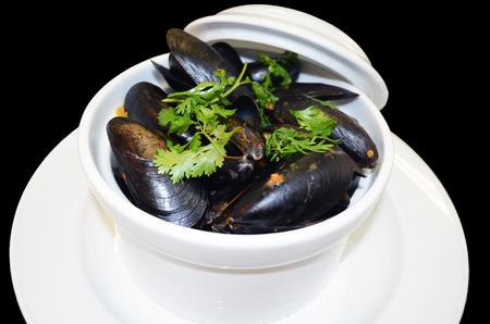 stir fried: clam stir fried Stock Photo