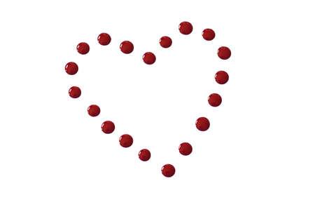nails polish heart drop Stok Fotoğraf