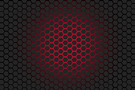 Hexagon grey and red background