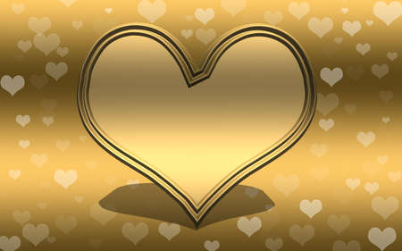 golden heart: Golden heart background with copy space
