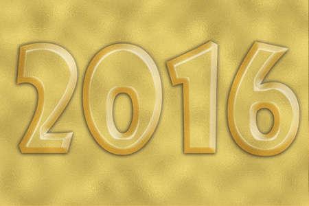 foil: 2016 on gold foil background texture