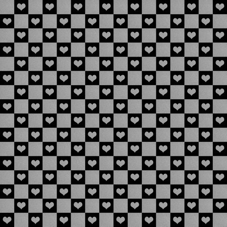 black and silver: black  silver hearts pattern seamless, texture background Stock Photo
