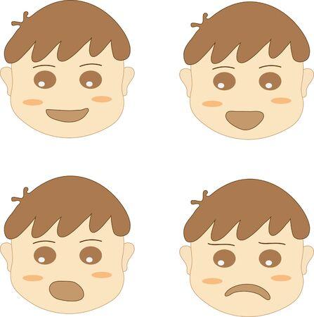 emotion: boy face emotion collection