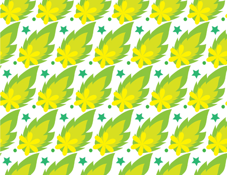 seamless: seamless green leaf pattern