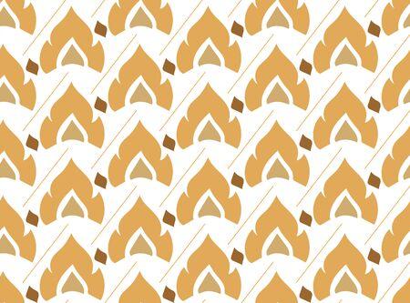 thai style seamless pattern Иллюстрация