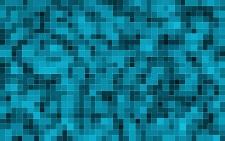 blue background: abstract blue square pixel mosaic background