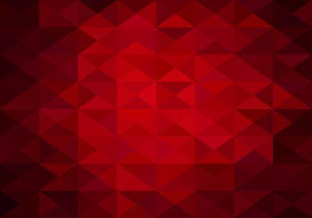semaforo rojo: Fondo abstracto rojo de tri�ngulos baja poli