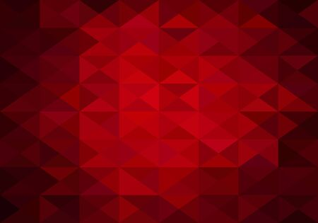 light red: red abstract background of triangles low poly Illustration