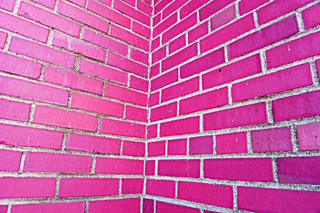 wall texture: pink brick wall pattern texture for background Stock Photo