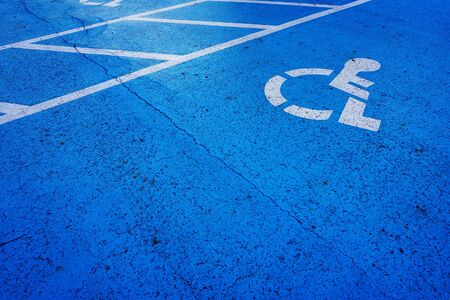 spot: wheel chair sign parking spot