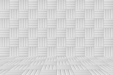 mosaic floor: abstract white grey mosaic tile wall and floor Stock Photo