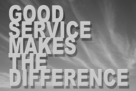 good service makes the different Stock Photo