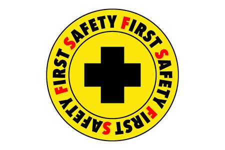 dangerous work: Safety First Symbol
