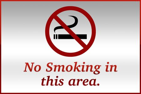 interdiction: No Smoking In This Area Sign Stock Photo