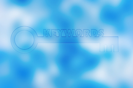 keywords: KEYWORD word business concept on blur background
