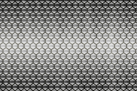 abstract grey metal honeycomb pattern background Standard-Bild