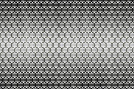 abstracta de metal gris patrón de panal de fondo Foto de archivo