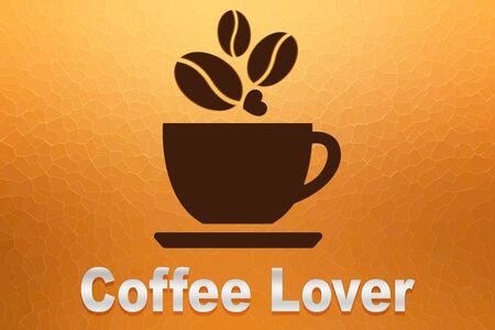 hot couple: a coffee cup logo with word Coffee Lover