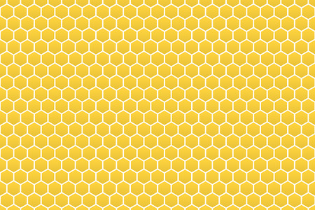 abstract yellow honeycomb pattern background