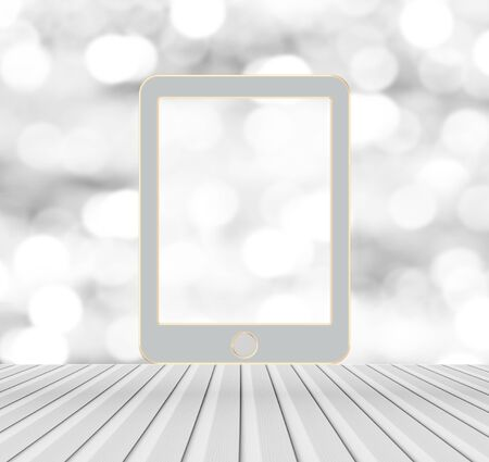 blank tablet: tablet mockup over blurred bokeh background
