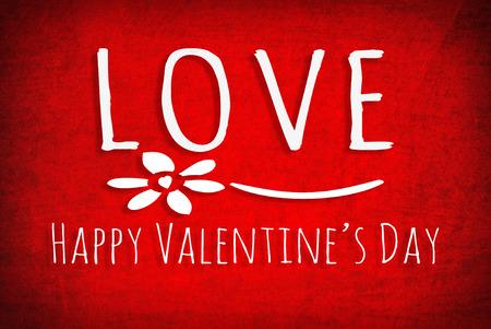 Valentines day - old grunge red paper background