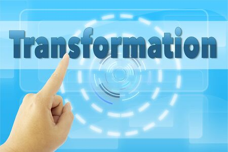 hand pointing Transformation word